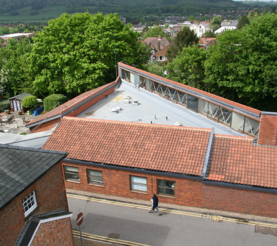 Pitched Hospital Roof