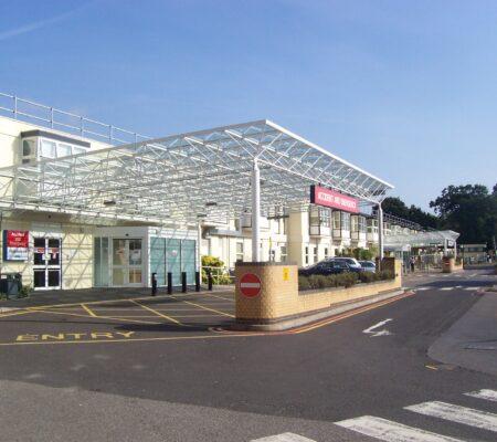 Entrance Frimley Park Hospital