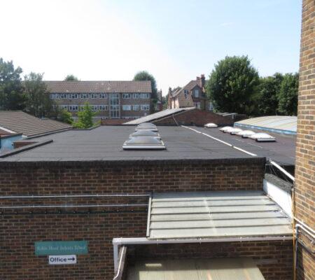 School Roof post works