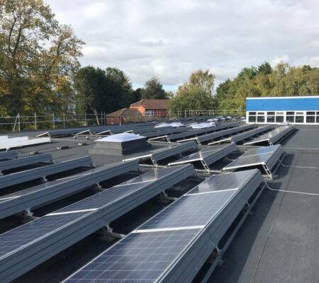 School Solar Panels Flat Roofing Project in South London