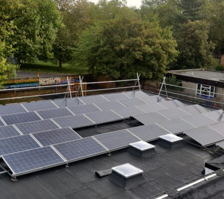 Educational Solar Panels Roofing Project in South London