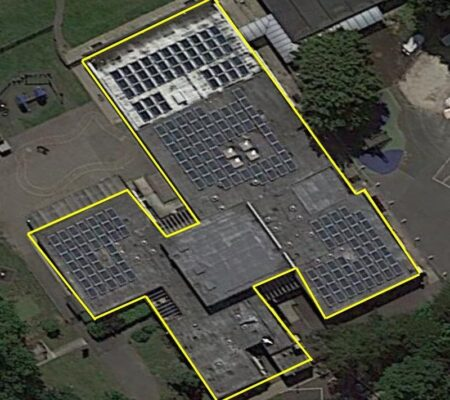 School Solar Panels Roofing Project in South London