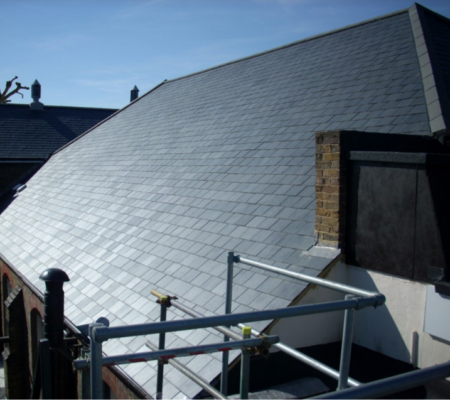Pitched Slate Roofing Project on Law Building