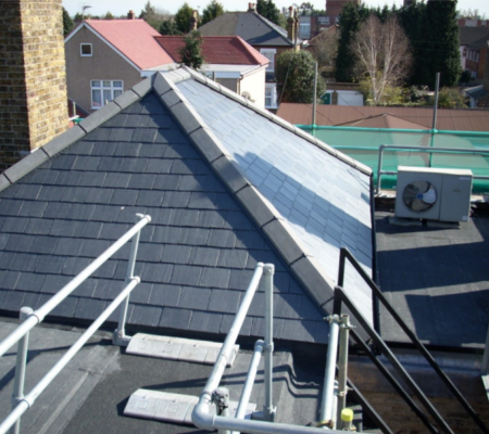 Pitched Roofing Project on Law Building