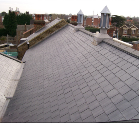 Pitched Roofing Work on Law Building